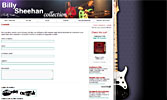 web design - Billy Sheehan Collection